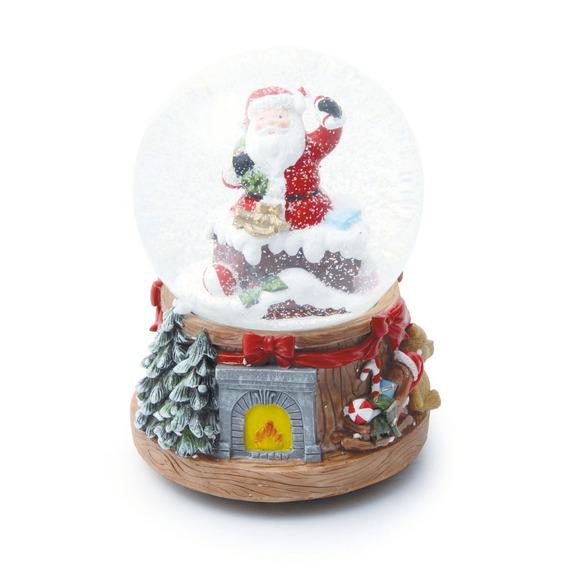 Globo De Neve Lareira Decoração Natal C/ 1 Pçs Colorido