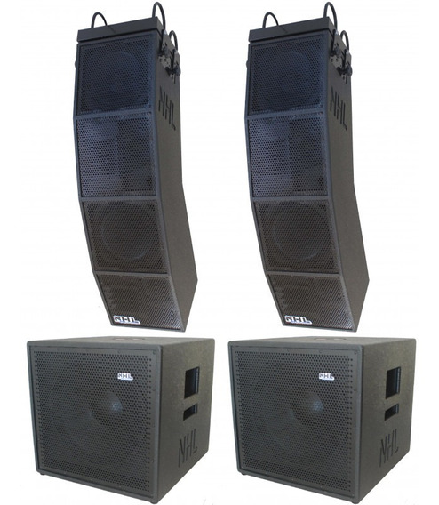 Kit Line Array + Subwoofer 15 Ativo Stereo 3800w Compacto