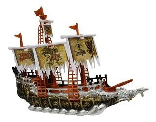 Barco Pirata Galeon Caravela Con Luces Sonidos Y Movimiento