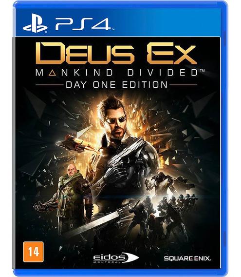 Jogo Deus Ex Mankind Divided Ps4 Mídia Física Edição Day One