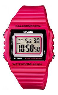 Reloj Mujer Casio W-215h-4av Fucsia Digital / Lhua Store
