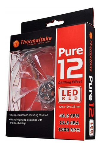 Ventilador Thermaltake Pure 120mm Led
