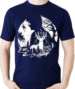 Camiseta Sombras Na Lua Hogwarts / Harry Potter Camisa Blusa