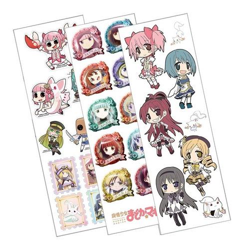Plancha De Stickers De Anime De Puella Magi Madoka Magica