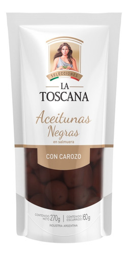 Aceitunas Negras En Salmuera La Toscana 270 Grs