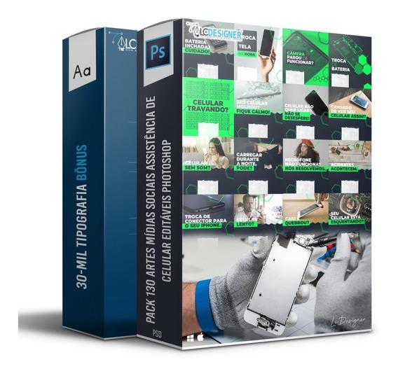 Pack 130-artes Assistência Técnica De Celular Photoshop