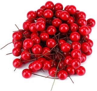 Fruta Artificial Zyyini Holly Berry Artificial 100pcs La Nav