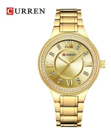 Relógio Feminino Curem 9004 Com Pedrarias Lindo