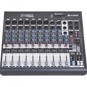 Mesa De Som 10 Canais Stereo Starmix Xms1002r Cinza Ll Audio
