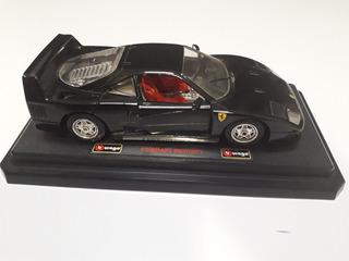 Carro De Coleccion Burago Ferrari F40 1987 Esc 1/24