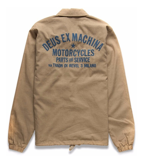 Deus Ex Machina Milan Premium Coach Jacket - Safari