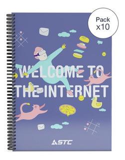 Pack De 10 Cuadernolas De 70 Hojas Con Tapa Flexible En Loi