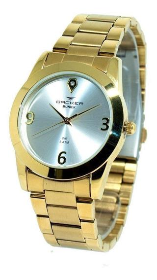 Relógio Backer 3992145f Feminino - Dourado