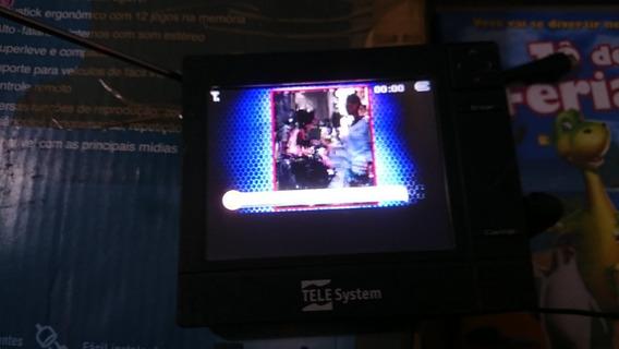 Tv Digital Portatil Tele System Tela De 3,5 Sem Fonte