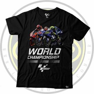 Camiseta Oficial Moto Gp World Championship Preta Masculina