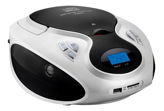 Rádio Boombox 20w Rms Sp181 Bco Multilaser Cd/usb/sd/fm/aux