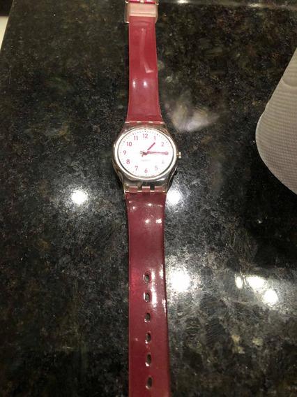 Lindo Swatch Original Pink Gloss Pequeno E Leve S.delicado
