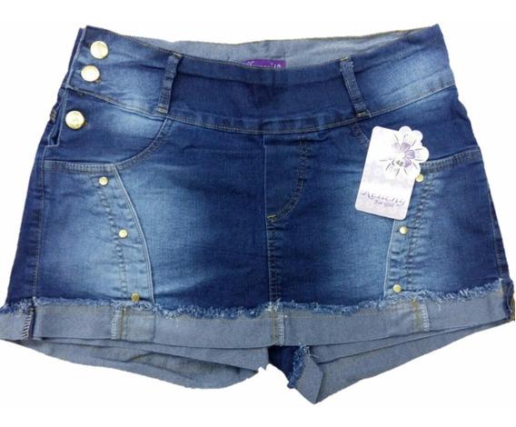 Roupas Femininas Short Jeans Plus Size Com Lycra 44/54