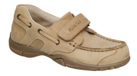 Zapato Náutico De Cuero Beige