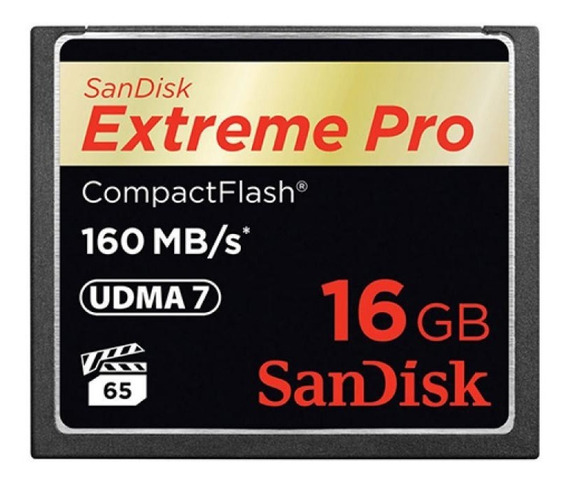 Cartão De Memória Sandisk Cf - Extreme Pro - 16gb - 160 Mb/s