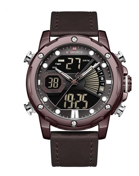 Relógio Masculino Esportivo Digital Naviforce Top Original