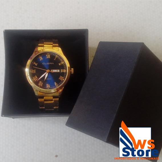 Relógio De Luxo Masculino Dourado