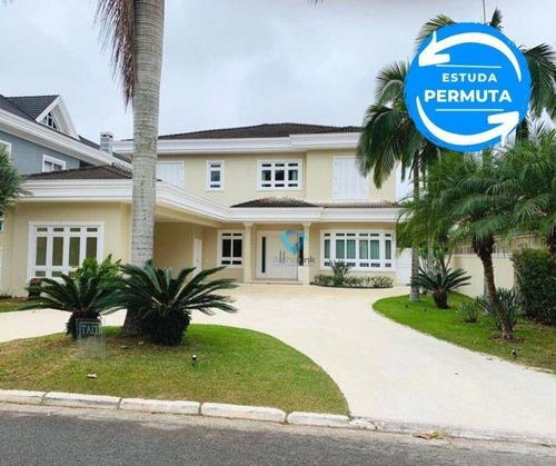 Imagem 1 de 10 de Casa Com 4 Dormitórios À Venda, 655 M² Por R$ 6.900.000,00 - Alphaville - Santana De Parnaíba/sp - Ca0970