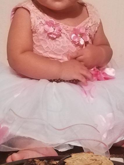 Vestido Niña 1 Año Tutu Fiesta Ropa De Bebé 1 Puesta Como Nv