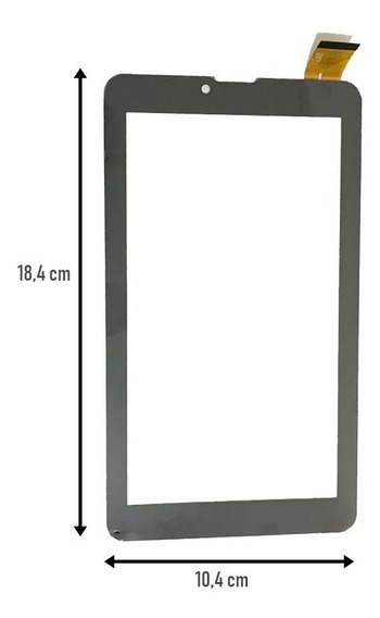 Tela Touch Tablet Multilaser M73g Plus Nb272 Preto