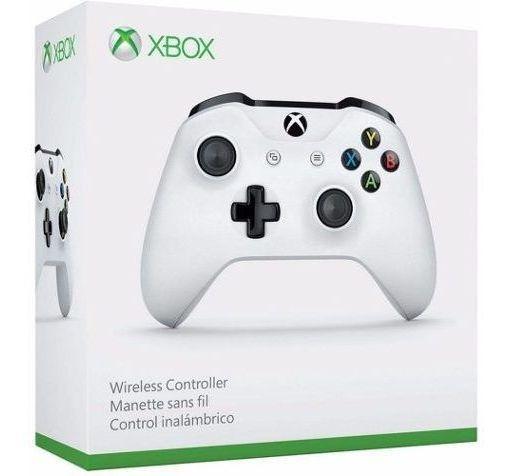 Controle Xbox One S Wireless White Original Microsoft