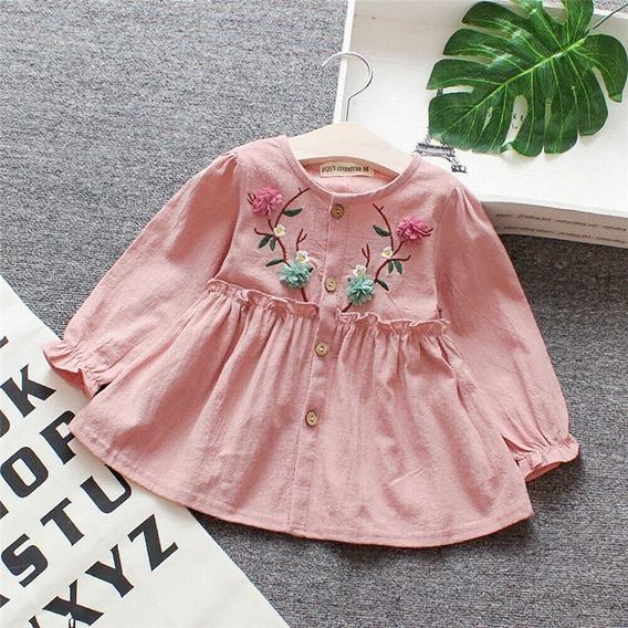 Vestido Bebe Rosa Cha