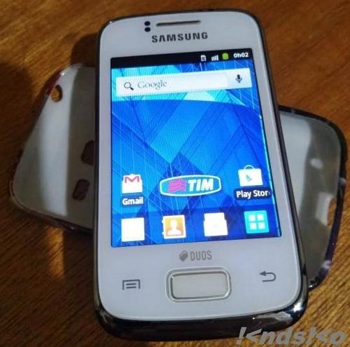 Celular Unico Dono Samsung Galaxy Y Young Duos Branco Caixa