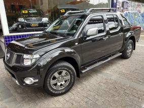 Nissan Frontier Sv Attack Dupla 2014 Preta 4x4 Mec Acessorio