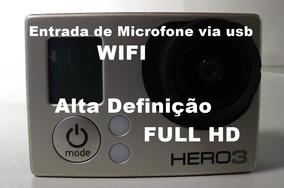Filmadora De Ação Gopro Hero 3 Entrada De Microfone Via Usb