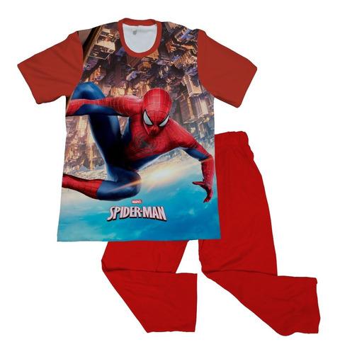 Pijama Niño Personalizada Spiderman Hombre Araña Avengers