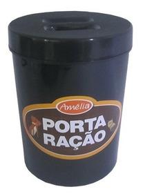 Pote De Plastico Redondo Porta Racao 2,5l