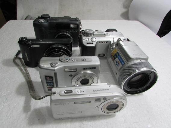 Lote 5 Cameras Diversas No Estado Conserto Ou Peças