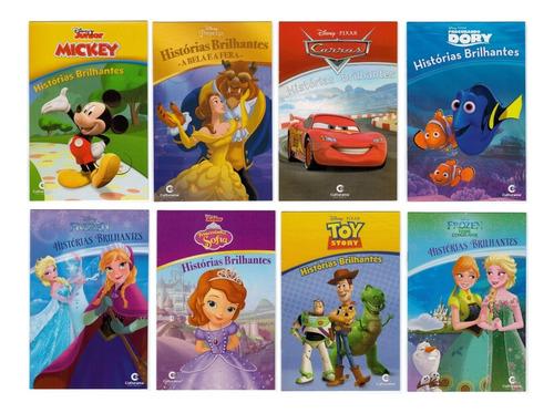 Imagem 1 de 8 de Histórias Brilhantes Disney - 8 Livros Ricamente Ilustrados