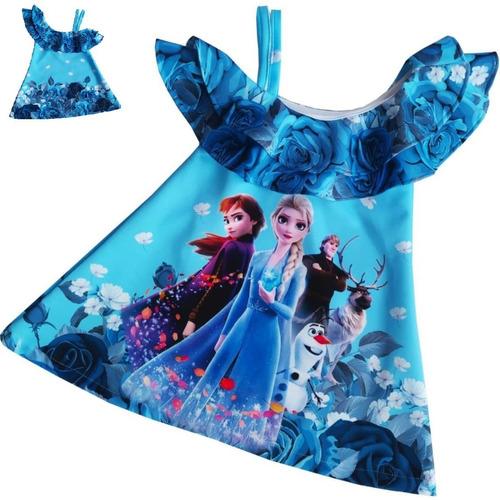 Imagen 1 de 7 de Vestido Con Bolero Frozen - Ig
