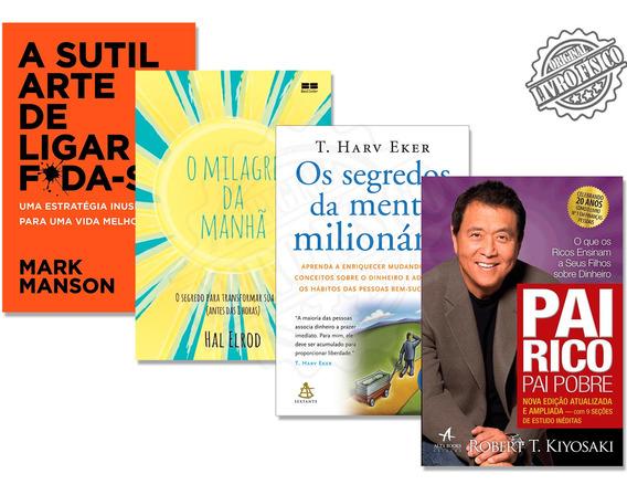 Kit 4 Livros De Educação Financeira E Sucesso