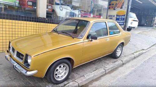 Chevette Sl 1978 Nao Tubarao Opala Ss 4cc Placa Preta Coleça