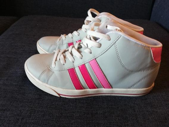 Zapatillas Neo Grises Y Rosa Mujer