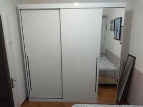 Guarda-roupa Casal Com Espelho Scarpa 3pt 4gv Branco