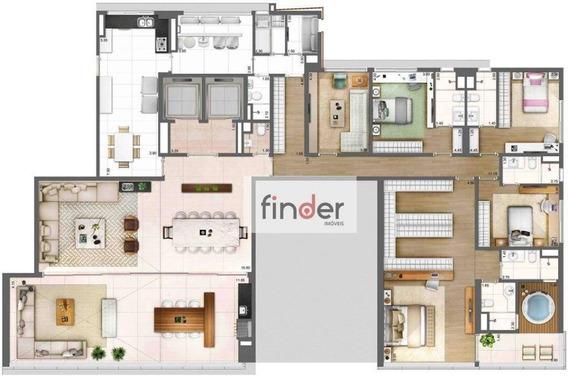 Apartamento Com 4 Dormitórios À Venda, 343 M² Por R$ 10.495.000 - Vila Olímpia - São Paulo/sp - Ap12660
