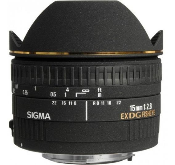 Lente Sigma 15mm F/2.8 Ex Dg Fisheye Para Canon Af