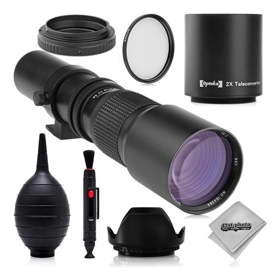 Super 500mm/1000mm F/8 Lente De Telefoto Manual Para Canon