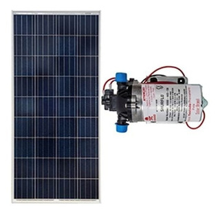 Kit Bombeamento Shurflo 8000 + Placa Solar Upsolar 155w