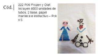 Pixi Frozen Y Olaf. Incluyen 4000 Unidades De Tubos, 2 Bases