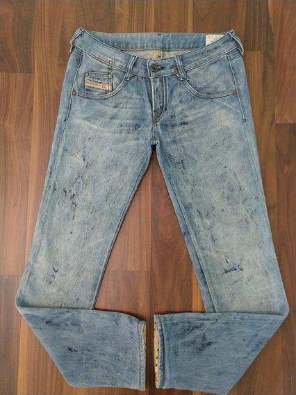 Calça Jeans Feminina Diesel Clush 38 Azul Original Importada