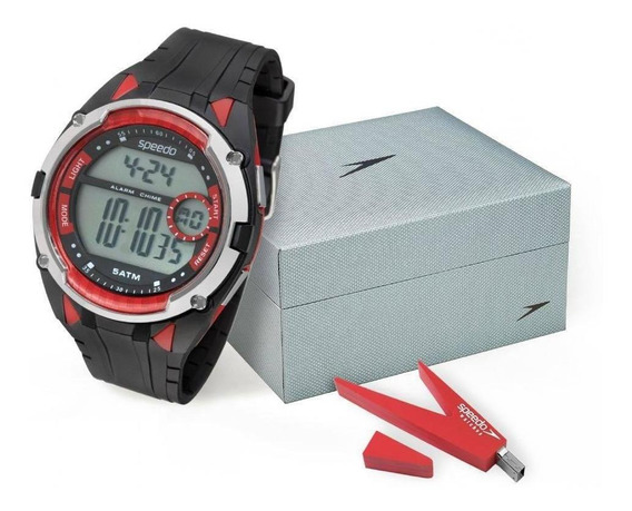 Relógio Masculino Speedo 81148g0evnp1k2 Digital Preto